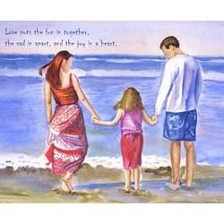 Family Beach Holiday Fine Art Print