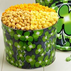 Shamrock 3-Way Popcorn Tin