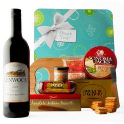 Thank You Gourmet Wine & Cheese Board Gift Set