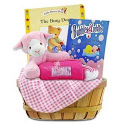 Nap Time for Baby Girl Gift Basket