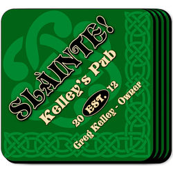 Personalized Slainte Coaster Set