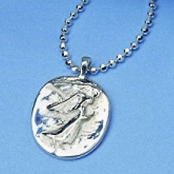 Guardian Angel Sterling Silver Pendant Necklace