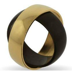 Engravable Golden Black Solar Eclipse Secret Message Band