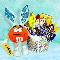 Easter Basket of Treats with M&M Plush