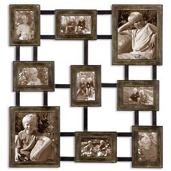 Dark Burnished Wash Photo Frame Wall Art