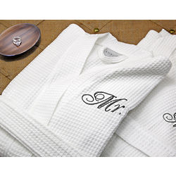 Giovanni Signature Egyptian Cotton Waffle Spa Robe