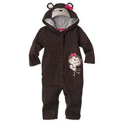 Monkey and Heart Hooded Coveralls