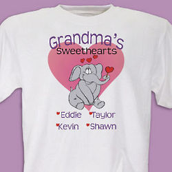 Elephant Sweethearts Personalized T-Shirt