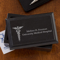 Medical Office Personalized Marble Business Card Holder