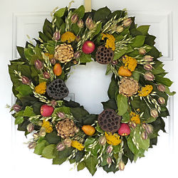 Orchard Bounty Dried Floral Wreath