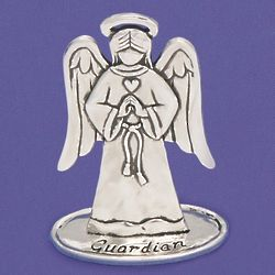 Pewter Guardian Angel Figurine