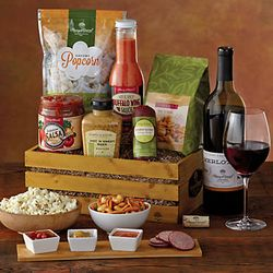 Hot and Spicy Snack Crate with Wine