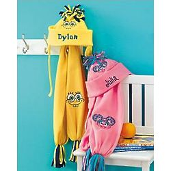 Personalized SpongeBob Hat and Scarf Set