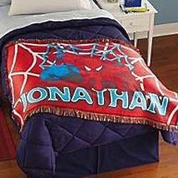 Personalized Spiderman Throw Blanket