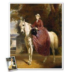 Empress on Horseback Masterpiece Portrait with Her Photo Print