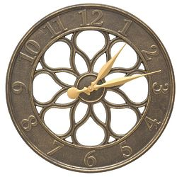 "Medallion 18"" Indoor/Outdoor Wall Clock"