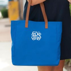 Personalized Royal Blue Tote
