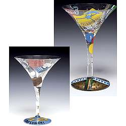 Birthday Guy Martini Glasses Gift Set
