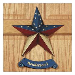 Personalized Patriotic Star Door Hanger