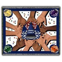 All 4 One Cheerleader Coach Tapestry Throw