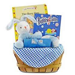 Nap Time for Baby Boy Gift Basket