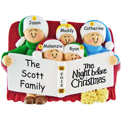 Night Before Christmas Ornament for Family of Five