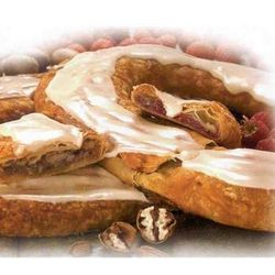 O & H Danish Kringle Pecan and Raspberry Flavors