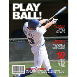 Baseball Personalized Magazine Cover Digital Print