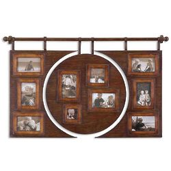 Distressed Dark Walnut Photo Frame Wall Art