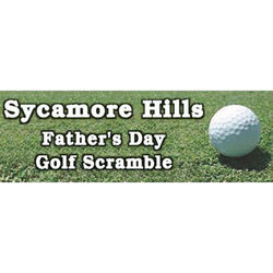 Golf Green Father's Day Personalized Banner