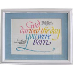 God Danced the Day You Were Born with Blue Frame