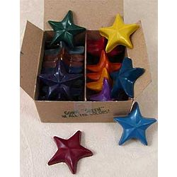20 Star-Shaped Crayons