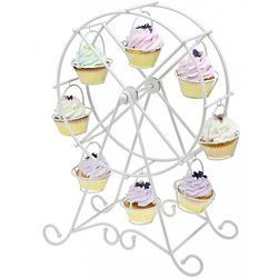 Ferris Wheel Cupcake Holder White
