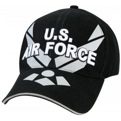 Air Force Wing Deluxe Black Cap
