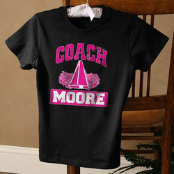 Lady's Personalized Sports Coach Black T-Shirt