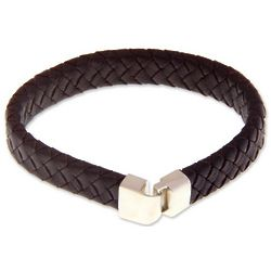Men's Steadfast Leather Bracelet