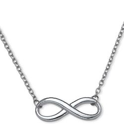 Link Chain Infinity Necklace in Sterling Silver