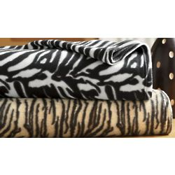 Animal Print Fleece Twin Blanket