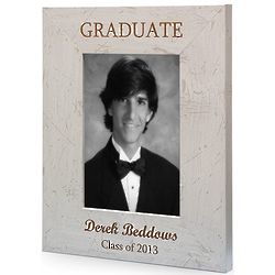 Personalized Graduate Antique White Picture Frame