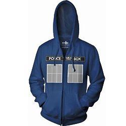 Doctor Who Tardis Zip Hoodie