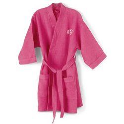 Fuchsia Kimono Waffle Weave Robe