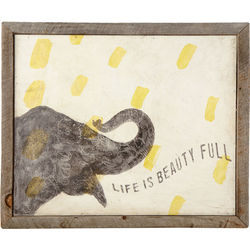Smart Elephant Recycled Wood Print