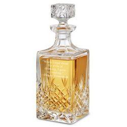 Personalized Manhattan Glass Decanter