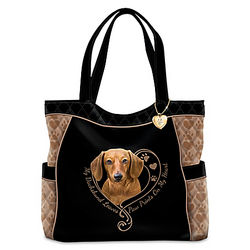 Paw Prints On My Heart Quilted Tote Bag