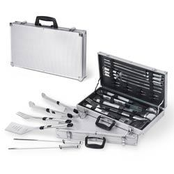 Mirage 19 Piece Stainless Steel BBQ Set with Aluminum Case