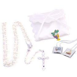 Girl's Satin with Bow Rosary Kit