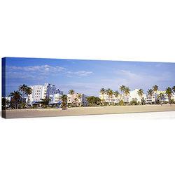 South Beach Miami Skyline Canvas