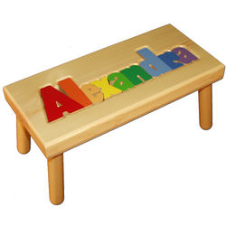 Personalized Puzzle Stool Findgift Com