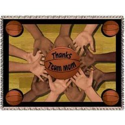 All 4 One Basketball Team Mom Tapestry Throw