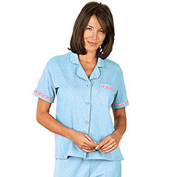 Blue Short-Sleeved Oh-So-Soft Pajamas